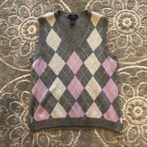 Brooks brothers 100% lambswool Gray vest